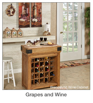 Grapes and Wine Home Decorating