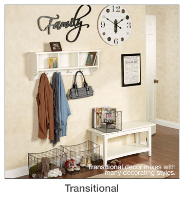 Transitional Home Decorating