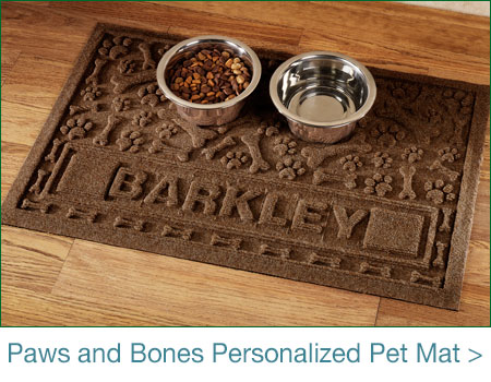 Paws and Bones Aqua Shield Personalized Pet Mat