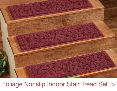 Foliage Nonslip Indoor Stair Tread Set