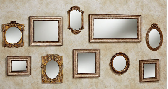 Fill A Bare Wall With Collage Of Accent Mirrors Use Mix To Large Horizontal E Left And Vertical