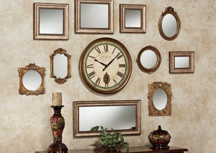 Wall Of Mirrors decorating your wall with accent mirrors | touch of class