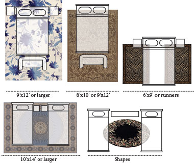 Bedroom Rug Layouts