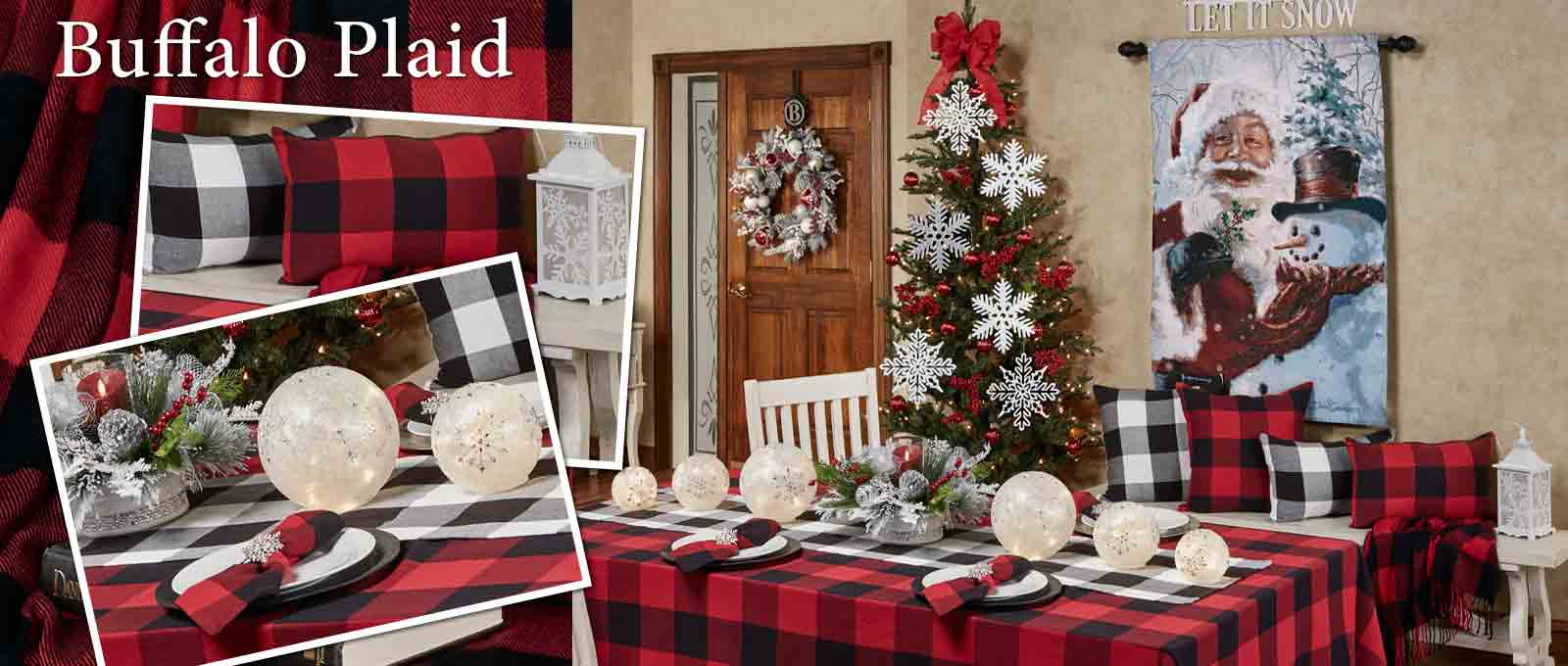 Buffalo Plaid Christmas Dining Room