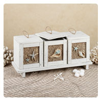 Sandy Beach Decorative Accent Box and Tray Set