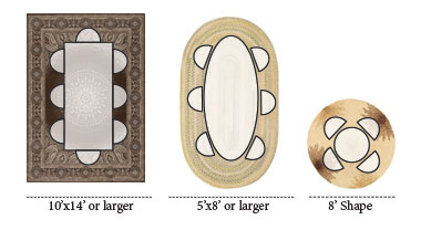 Dining Room Rug Layouts