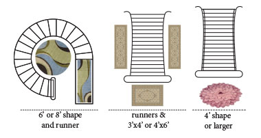 Hall and Foyer Rug Layouts