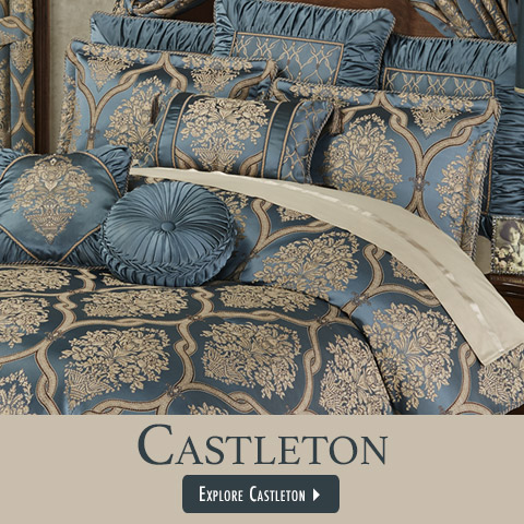 Shop our exclusively designed bedding - Castleton shown