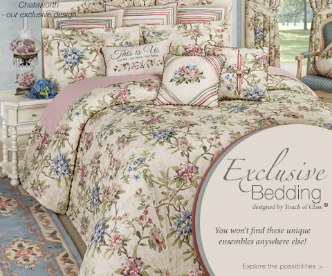 Shop our Exclusive Bedding >