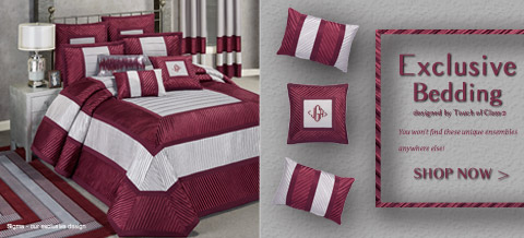 Shop Touch of Class Exclusive Bedding that you won't find anywhere else - Sigma Bedding Ensemble shown >