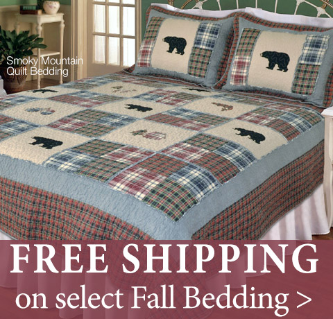 Free Shipping on select Fall Bedding