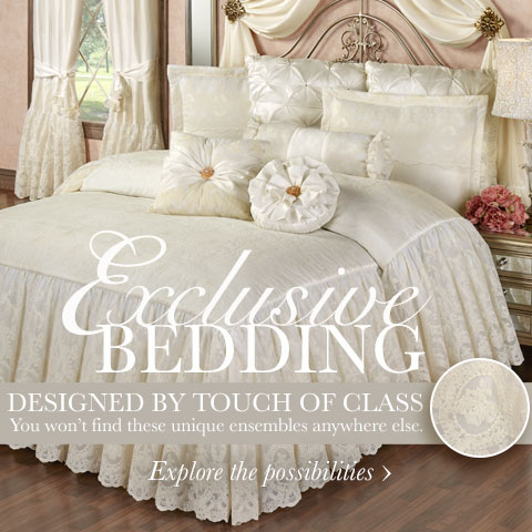 Our Exclusive Cameo Lace Bedding