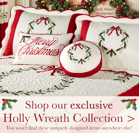 Shop our exclusive Holly Wreath Collection