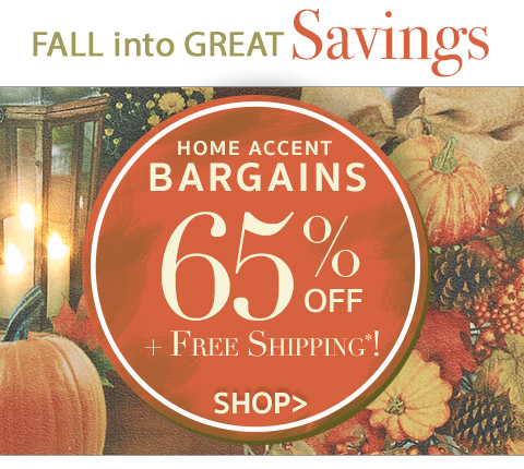 Home Bargains - Save 65% on 120 items plus Free Shipping