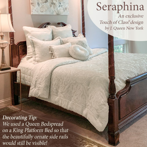 Get The Look - our exclusive Seraphina Bedding Ensemble