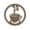 Occasions Metal Wall Art Sign - Coffee Motif