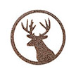 Occasions Metal Wall Art Sign - Deer Motif