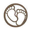 Occasions Metal Wall Art Sign - Baby Footprints Motif