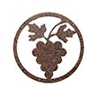 Occasions Metal Wall Art Sign - Grapes Motif