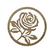 Occasions Metal Wall Art Sign - Rose Motif