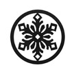 Occasions Metal Wall Art Sign - Snowflake Motif
