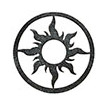 Occasions Metal Wall Art Sign - Sun Motif