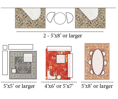 Outdoor Area Rug Layouts