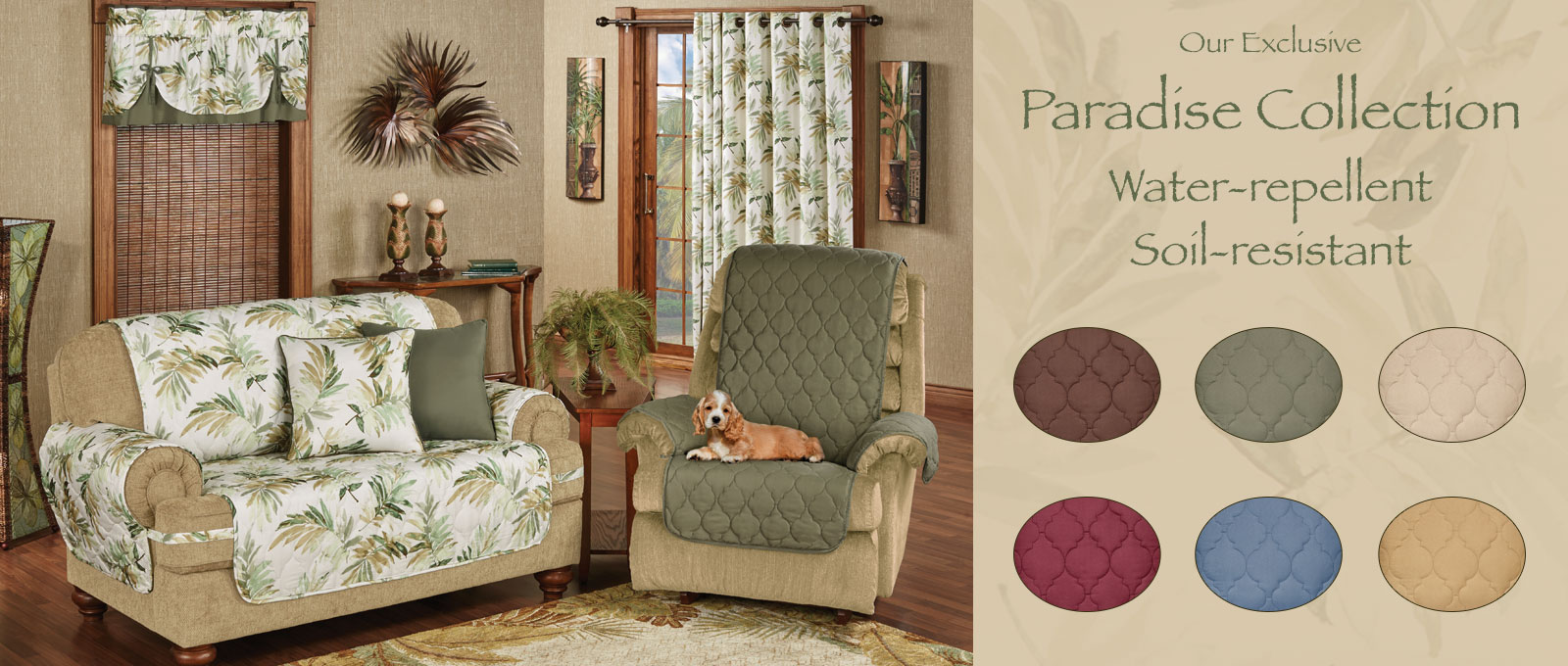 Tropical Paradise Furniture Cover Collection