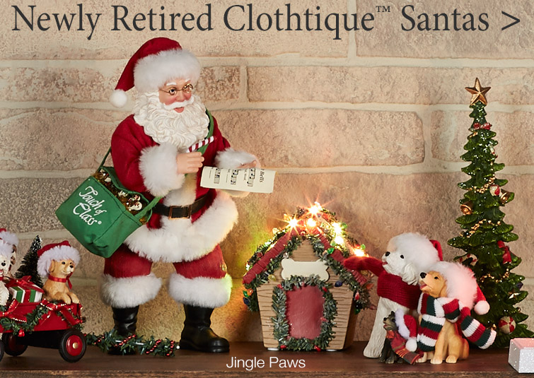 Newly Retired Collectible Clothtique Santas