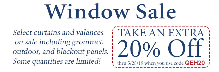 Receive an extra 20% Off select window treatments