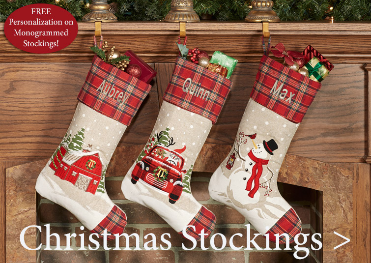 Christmas Stockings - Shop early for best selection!
