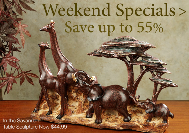 Save up to 55% on Weekend Specials Home Accents