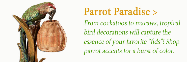 Shop tropical Parrot-Themed home accents