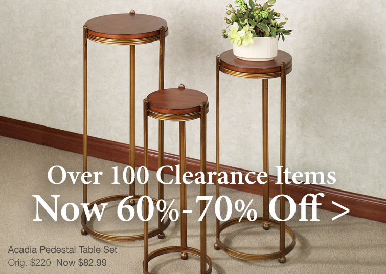 Over 100 Clearnace Items Now 60%-70% Off