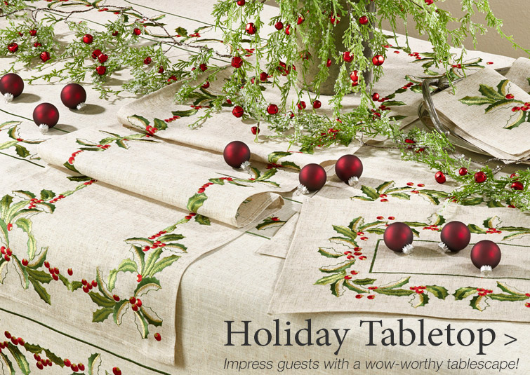 Christmas Table Linens