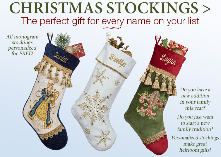 Get Your Personalized Christmas Stockings before they are gone!