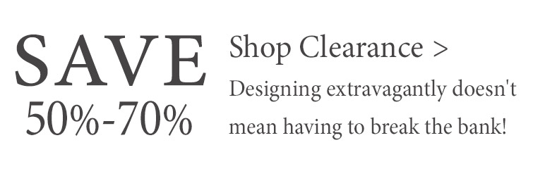 Save 50%-70% when you shop our Clearance section