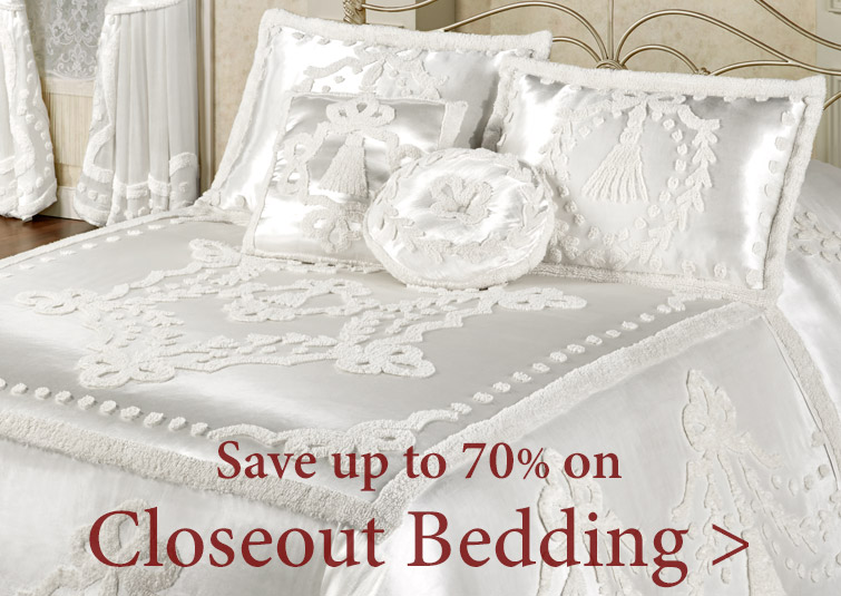 Save up to 70% on quality Closeout Bedding