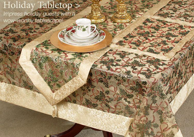 Christmas Table Linens