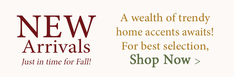 Shop New Arrivals just in time for Fall