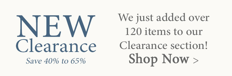 Save up to 65% on new items just added to Clearance!