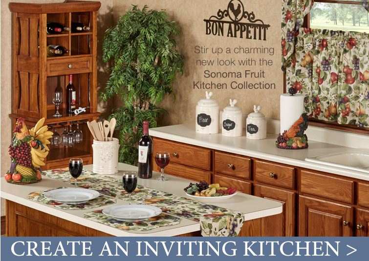 Create an inviting kitchen with the Sonoma Fruit Colelction
