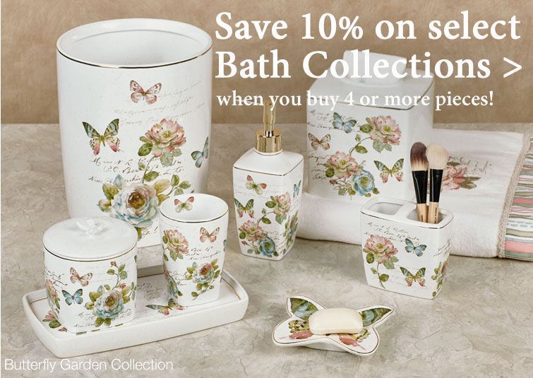 Save 10% when you buy 4 or more pieces from select bath collections