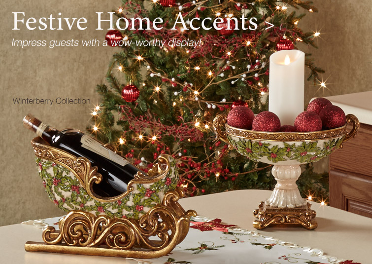 Impress your guests with a sparkling Christmas display