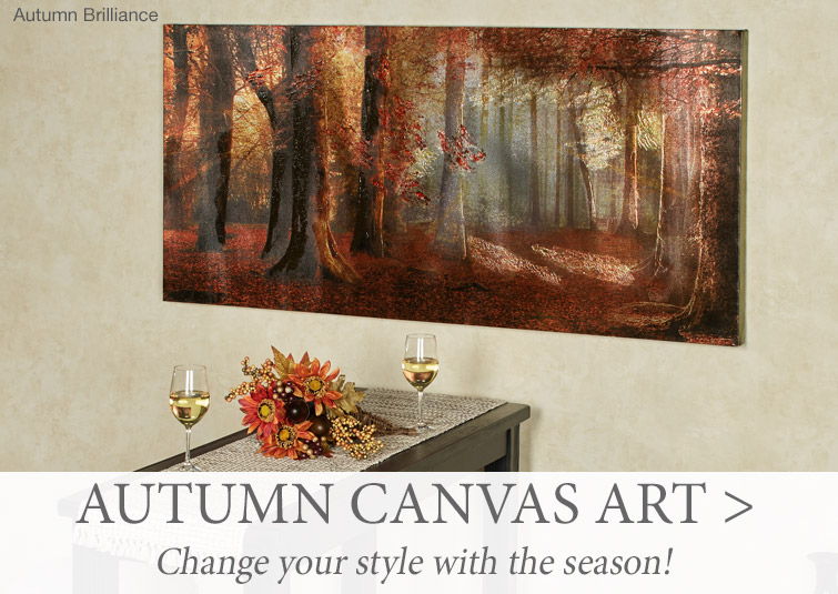 Change your style with the season - shop Autumn Canvas Art >