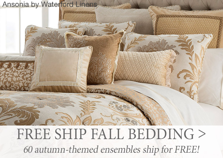 Free Shipping on 60 fall-themed bedding ensembles