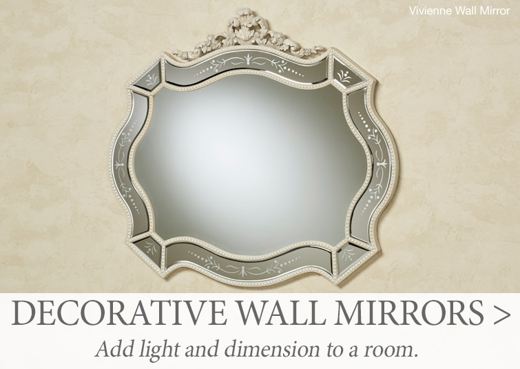 Check out all of our decorative wall mirrors now >