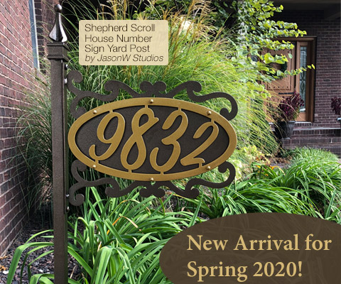New House Number Signs by JasonW Studios