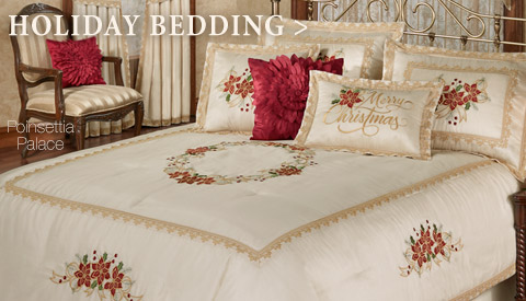 Bestow a little seasonal splendor on your bedroom with our Holiday Bedding!