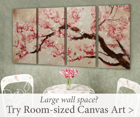 Need to fill a large wall space? Try Room-sized Canvas Art